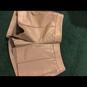 Bebe leather trouser shorts extra small / small
